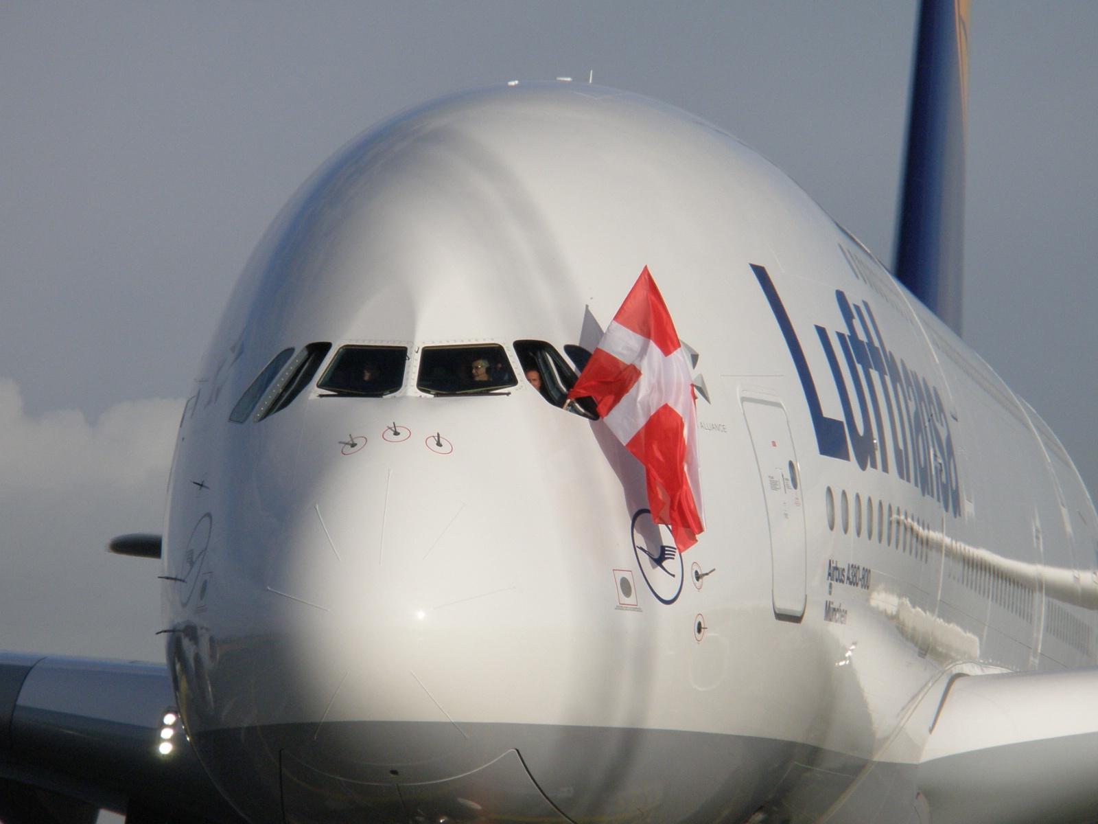 Lufthansas A380-800. (Foto: Ole Kirchert Christensen)