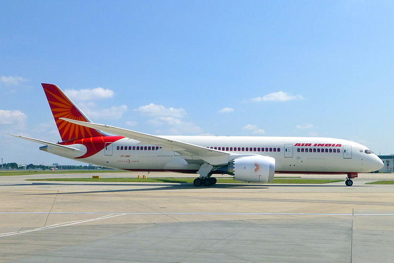 Air India benytter Boeing 787-Dreamliner på mange internationale ruter.