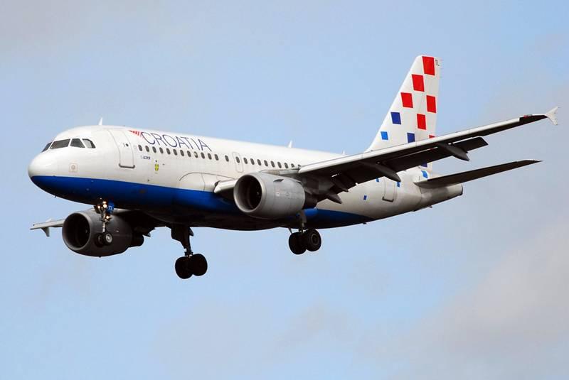Et Airbus A319-fly fra Croatia Airlines. Selskabet vil benytte CRJ1000-fly på sine tre nye nordiske ruter.
