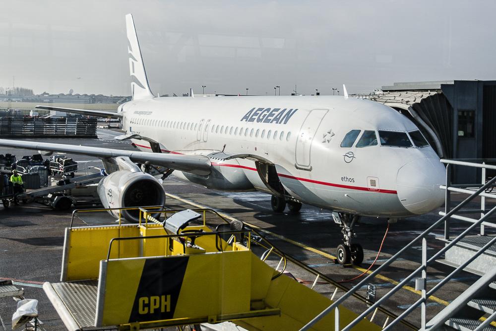 Aegean Airlines i Københavns Lufthavn.  (Foto: Morten Lund Tiirikainen)
