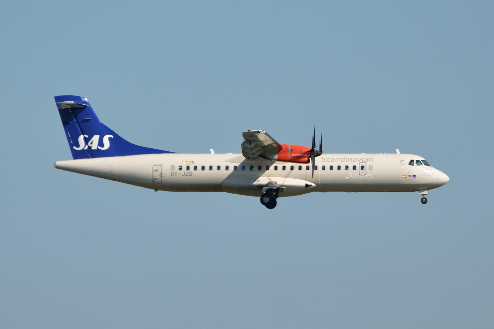 SAS ATR72-600 opereret af Jet Time. (Foto: Morten Lund Tiirikainen)