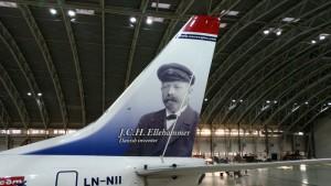 Den danske flypioner er halehelt på LN-NII, der opereres af slovakiske Go2Sky. (Foto: Norwegian)