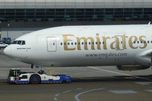 Emirates Boeing 777-200.