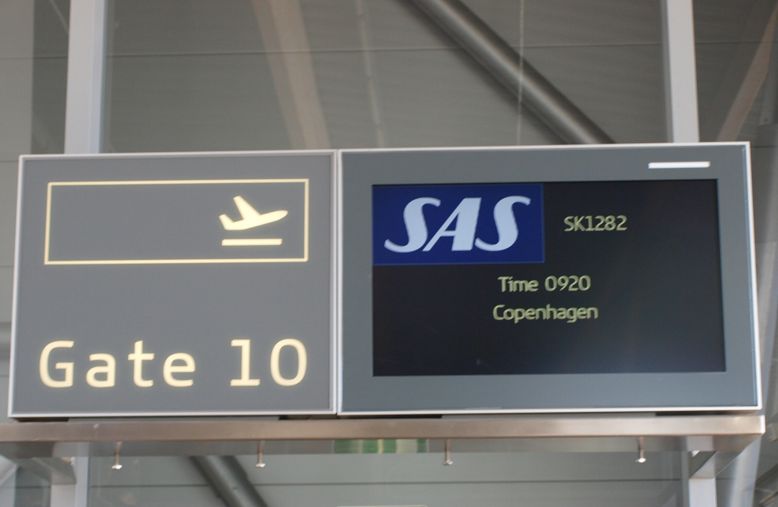 SAS flyver på indenrigsruten mellem København og Billund. (Foto: Ole Kirchert Christensen)
