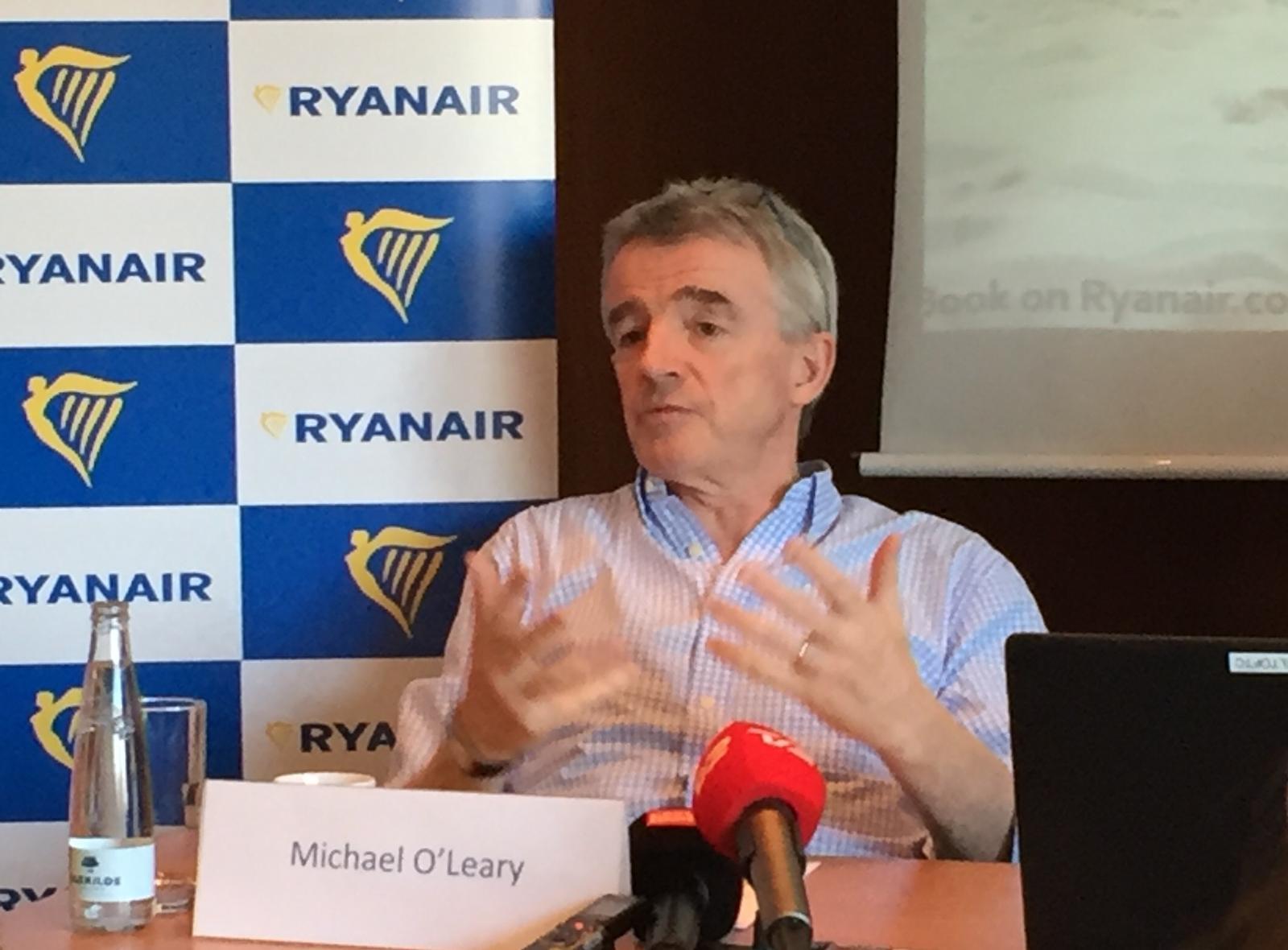 Ryanair-topchef Michael O'Leary ved et pressemøde i København (Arkivfoto: Andreas Krog)