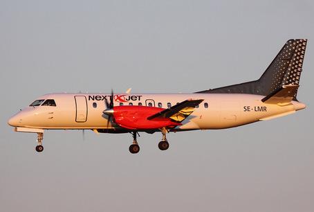 Et af Nextjets nuværende 11 SAAB 340-fly.