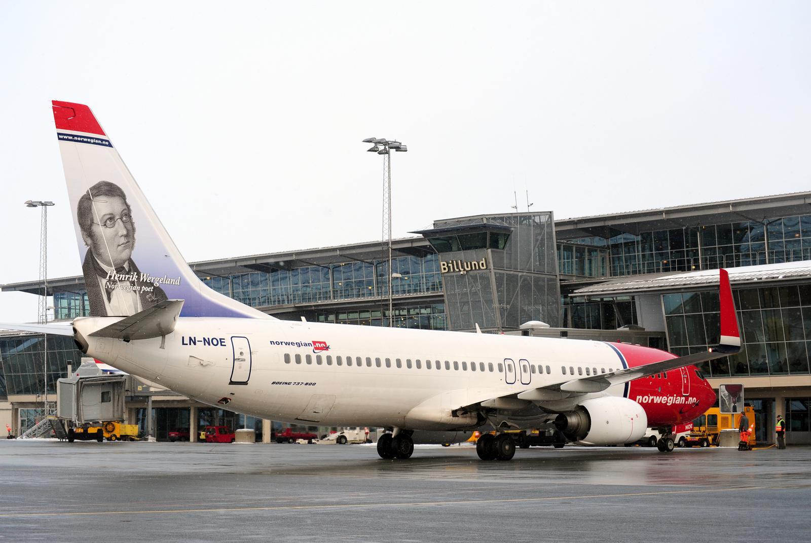 Norwegians Boeing 737-800 i Billund Lufthavn.