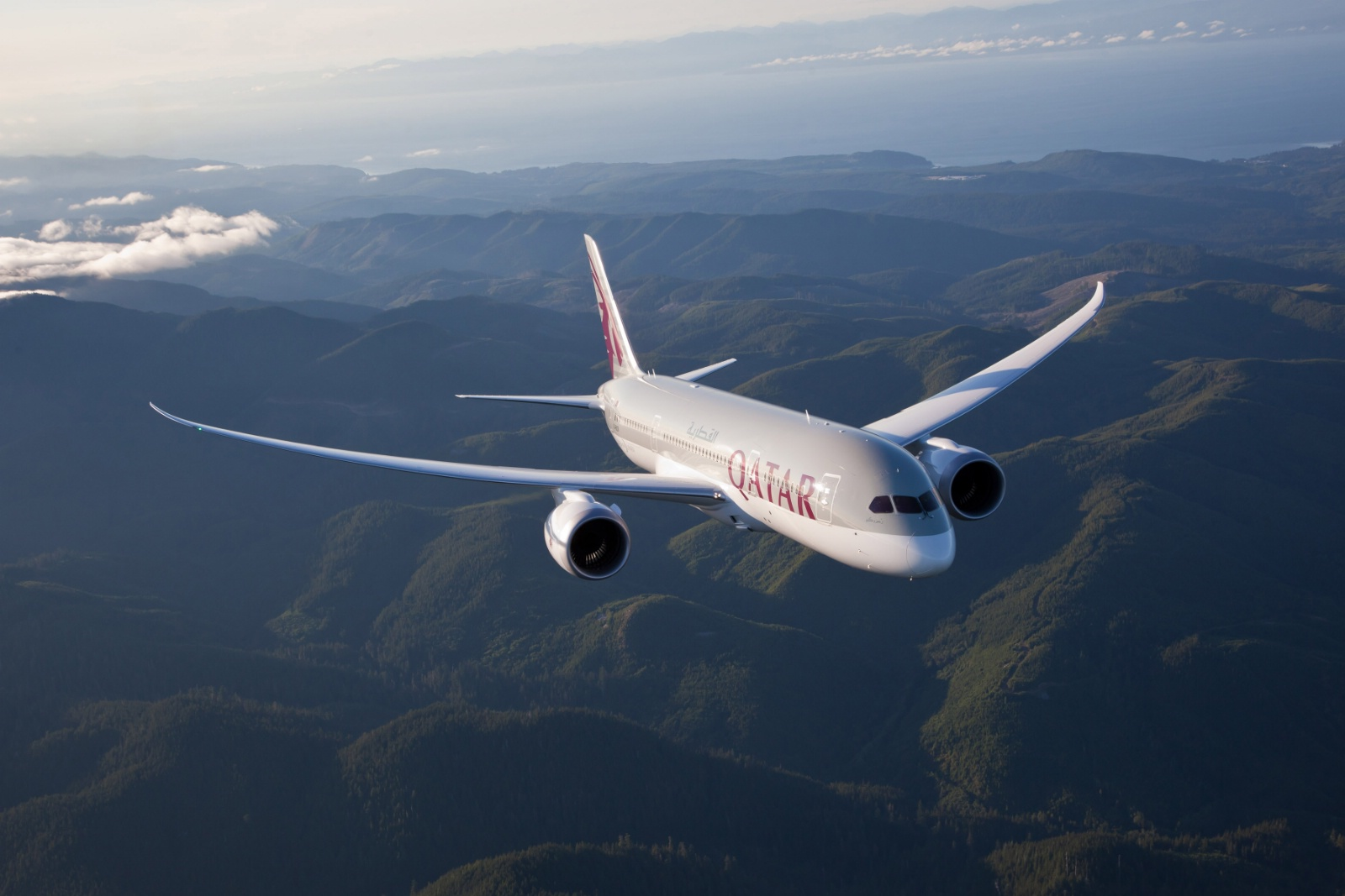 Boeing 787-8 Dreamliner fra Qatar Airways.