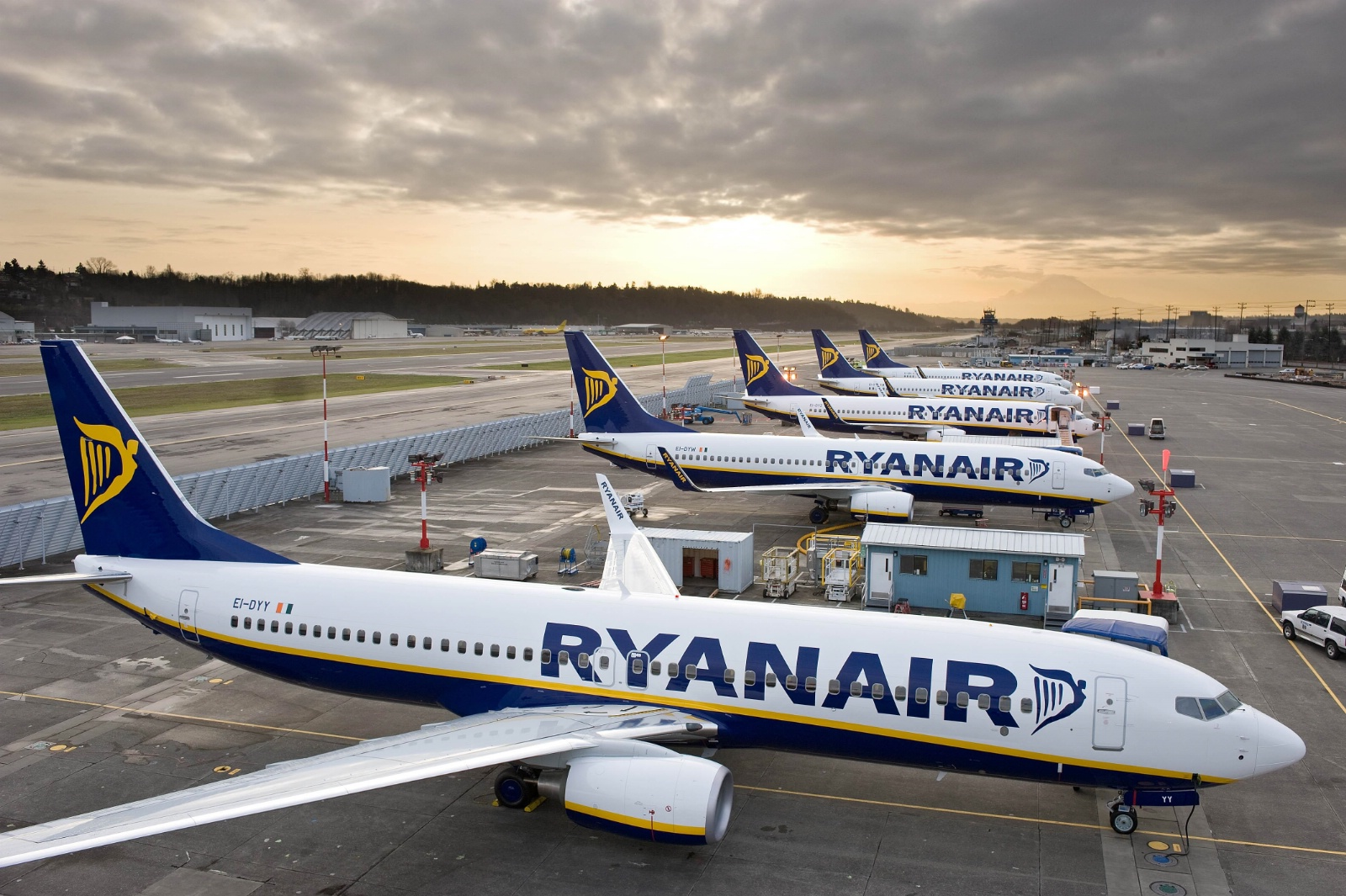 Ryanairs flåde består af Boeing 737-800 fly (Foto: Ryanair)
