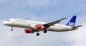 SAS Airbus A321-200 med plads til 198 passagerer.