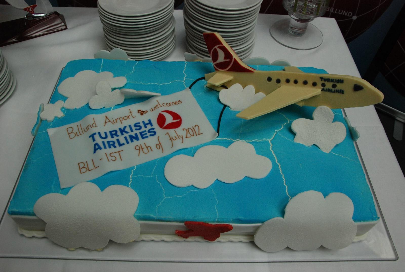 Der var kage ved den officielle åbning af Turkish Airlines-ruten til Billund.