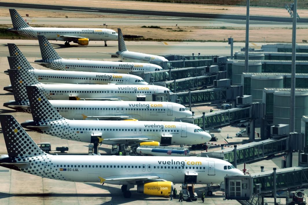 Vueling-fly i Barcelona El-Prat.