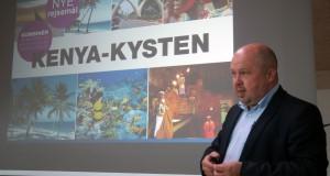 Bravo Tours-direktør, Peder Hornshøj, kunne onsdag løfte sløret for en ny rute fra Aalborg til Mombasa i Kenya. (Foto: Joakim J. Hvistendahl)