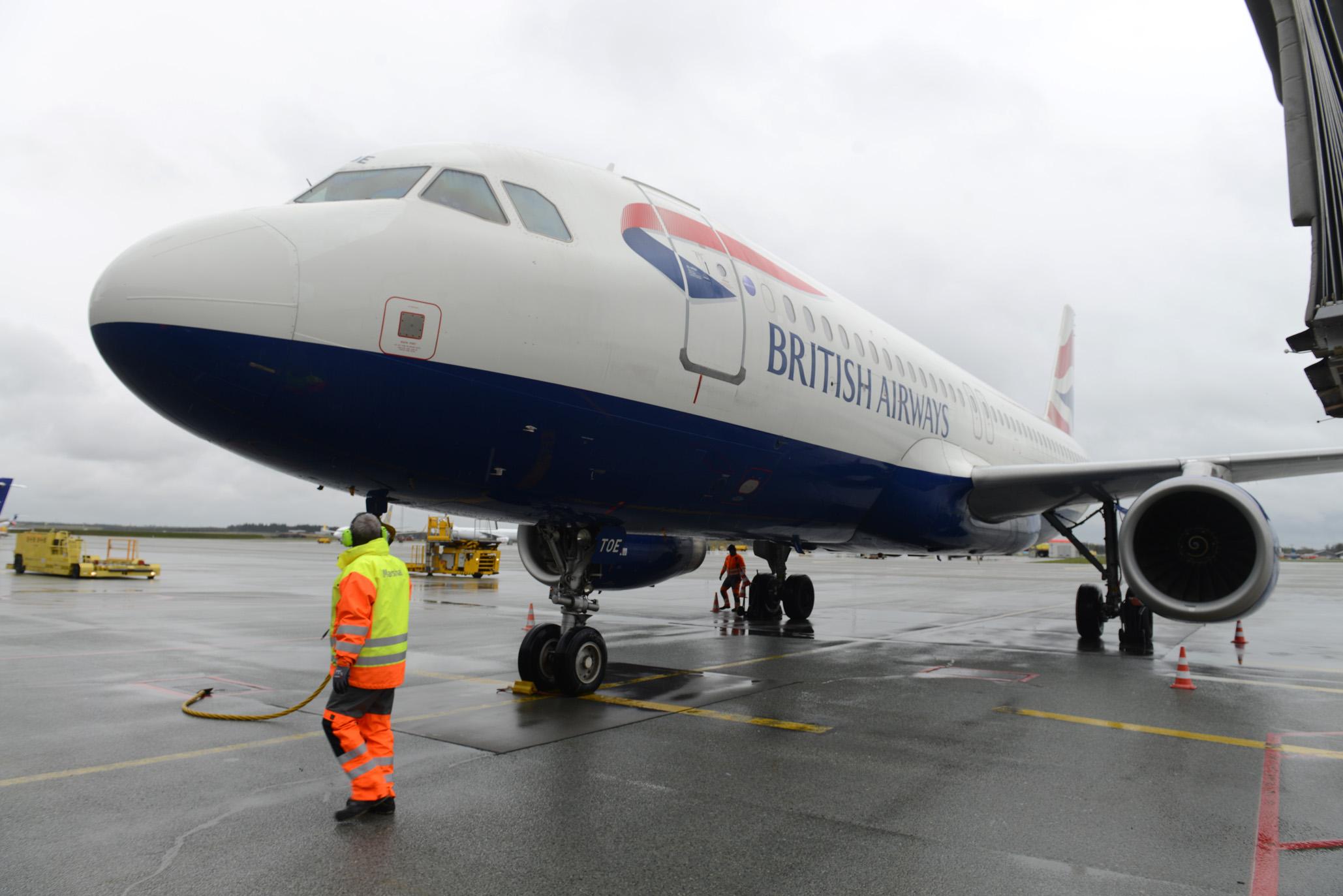 British Airways-fly i Billund Lufthavn (Foto: Joakim J. Hvistendahl)