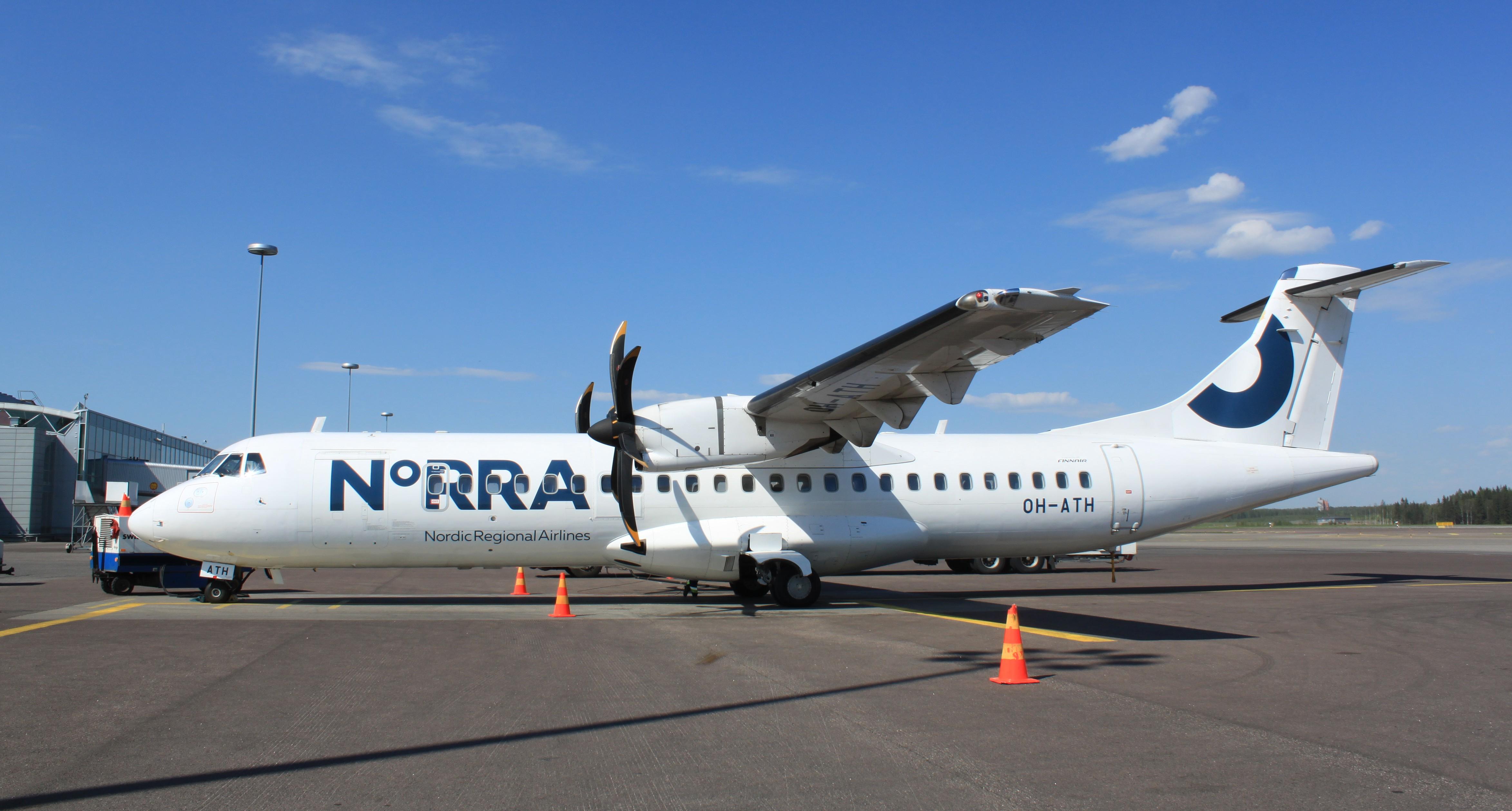 Norra ATR72-500 (Foto: Kaisa Huhtaniemi/Norra)