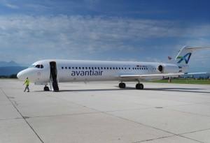 Avantiair Fokker F-100 skal flyve mellem Oslo og Bergen.