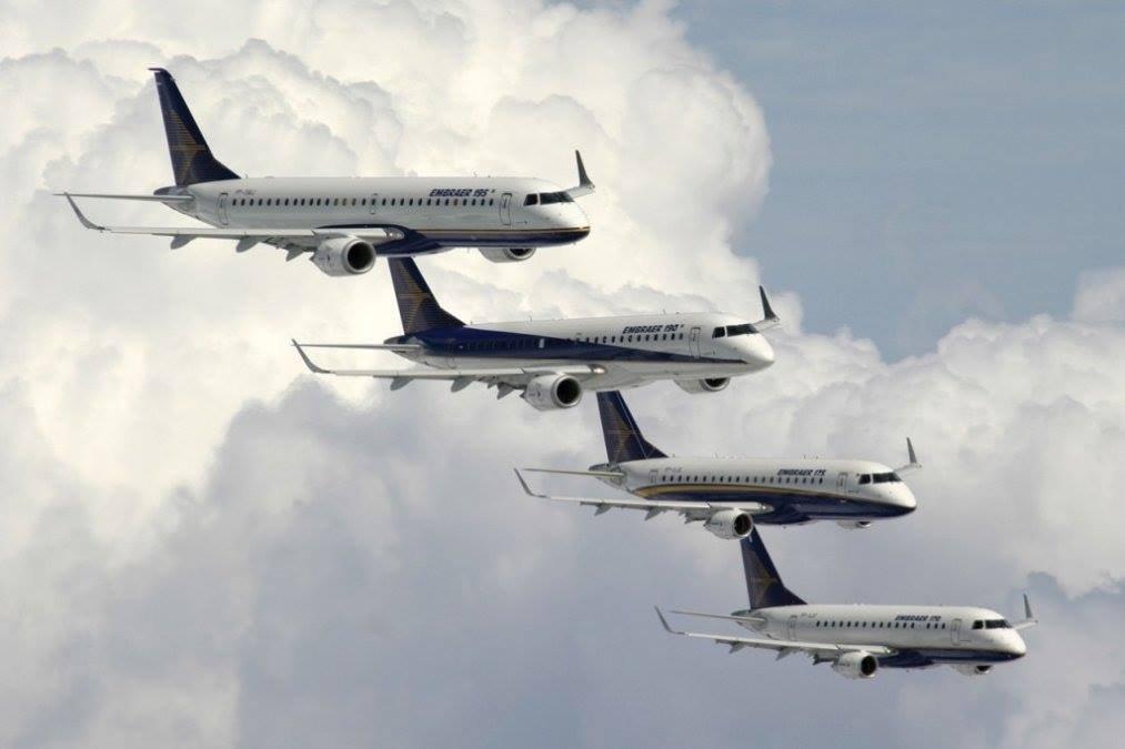 Embraer E-jets.