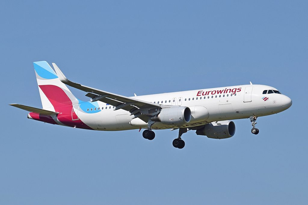 Aribus A320-200 fra Eurowings. (Foto: Adrian Pingstone)