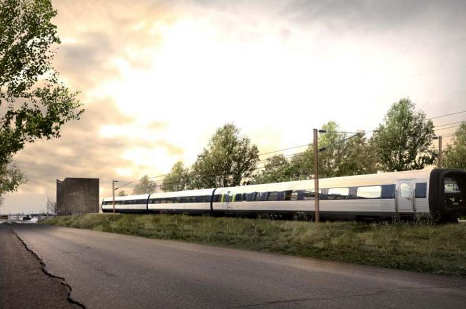 Jernbanen til Aalborg Lufthavn kan tages i drift i begyndelsen af 2020. (Foto: Banedanmark)