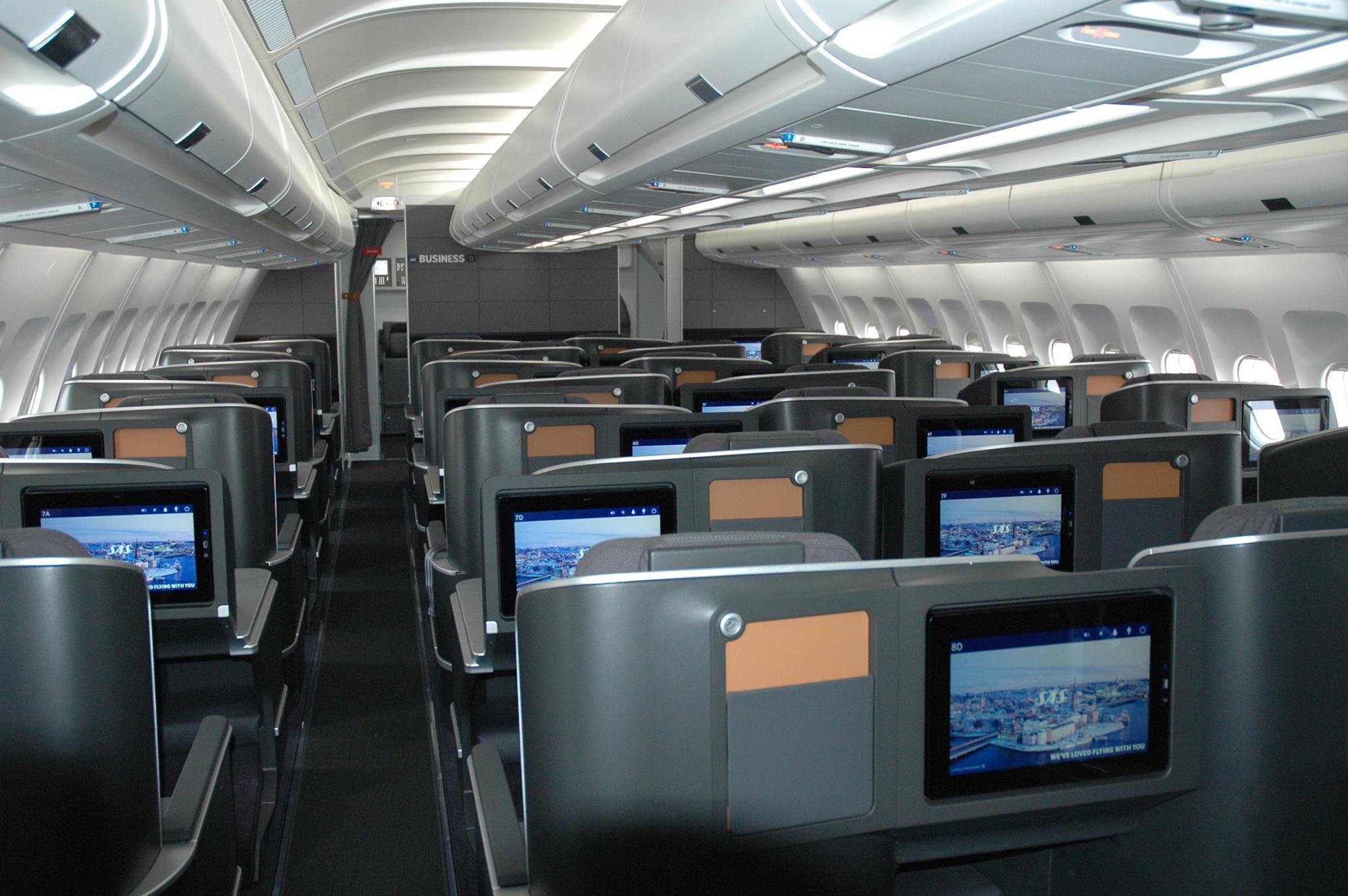 Ny kabine i A340-300 – Toste Viking. (Foto: SAS)
