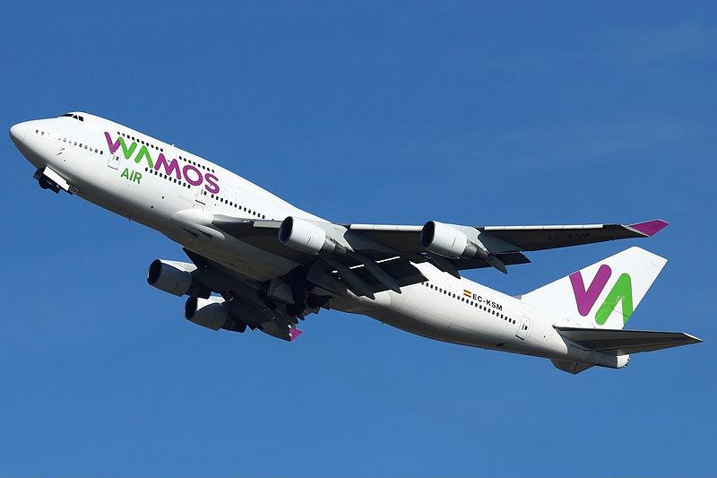 Wamos Air Boeing 747-400 (Foto: William Verguet)