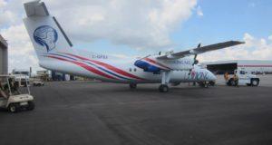 Første Dash 8-103 fly til FlyViking. (Foto: FlyViking)