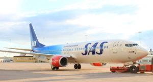 SAS fejer 70 år med dette Boeing 737-800 fly i jubilæumsbemalling. (Foto: SAS)