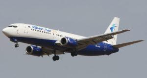 Blue Air vil benytte et Boeing 737-400 fly på ruten. Foto: Yoyoyo / Wikimeda Commons.
