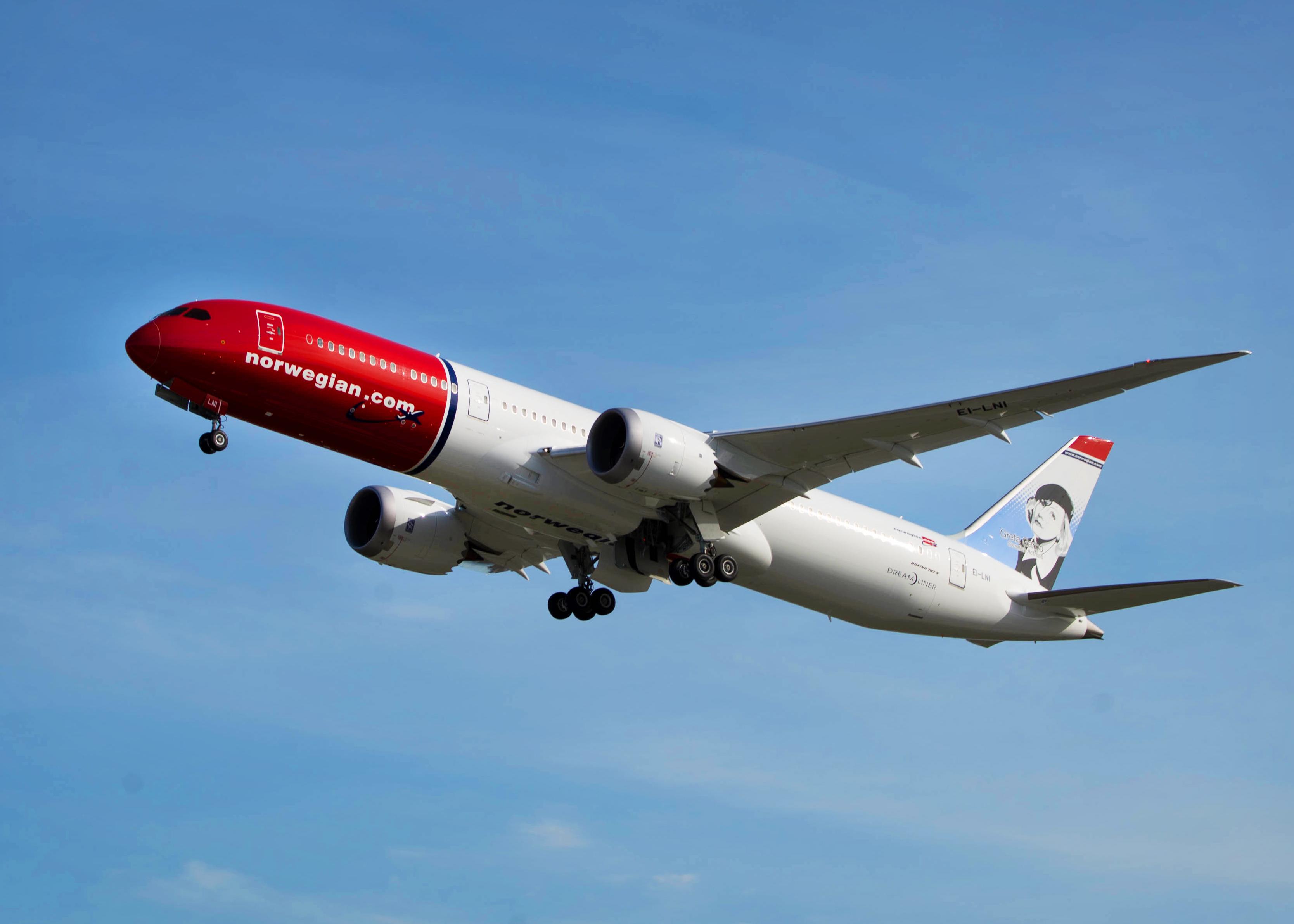 Norwegian Boeing 787-9 (Foto: Atle Straume)