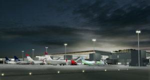 Nye T3 i Bergen Lufthavn. (Illustration: Nordic - Office of Architecture)