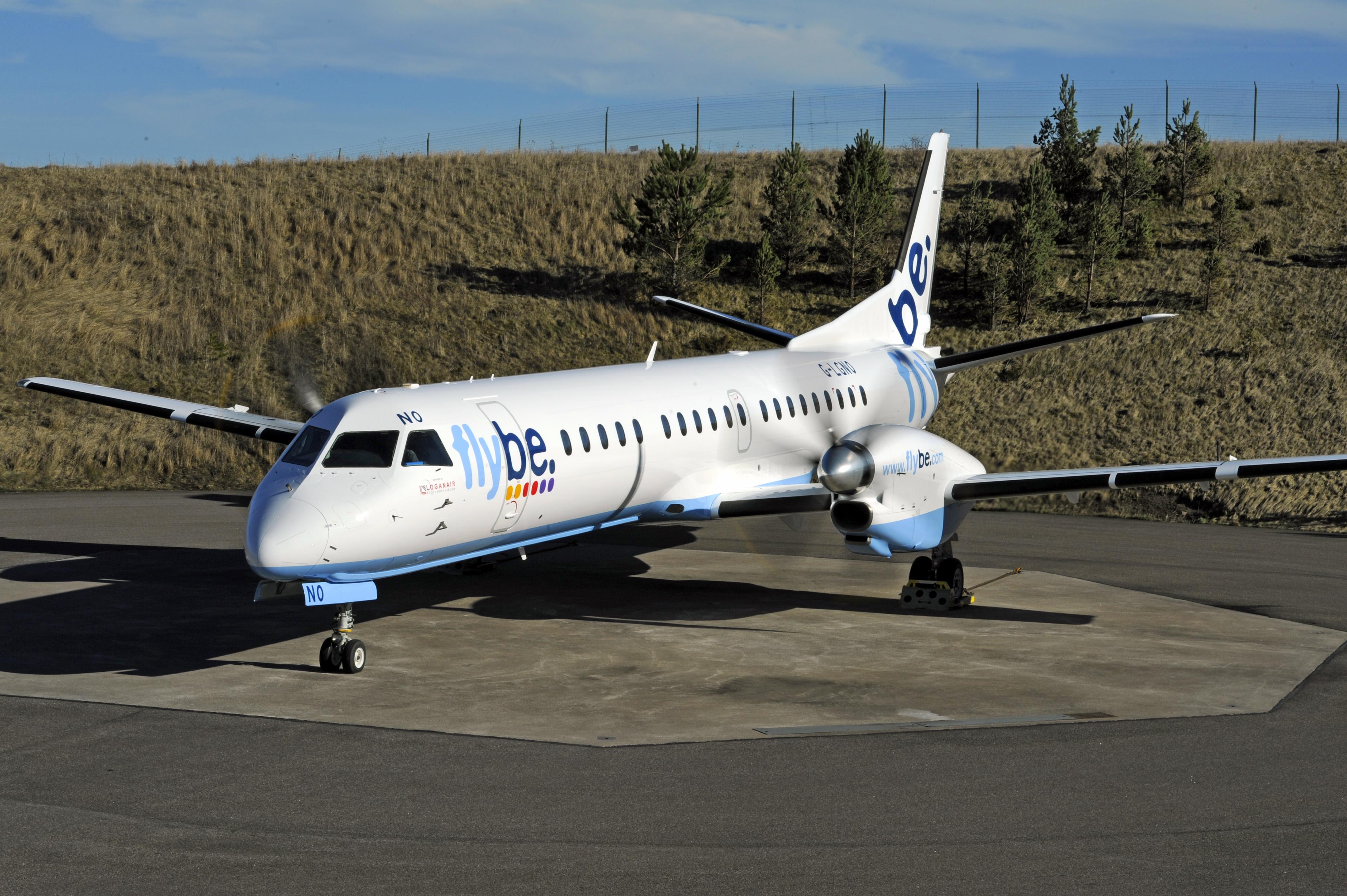 SAAB 2000 fra Loganair, der flyver som franchise-partner for Flybe (Foto: Loganair)