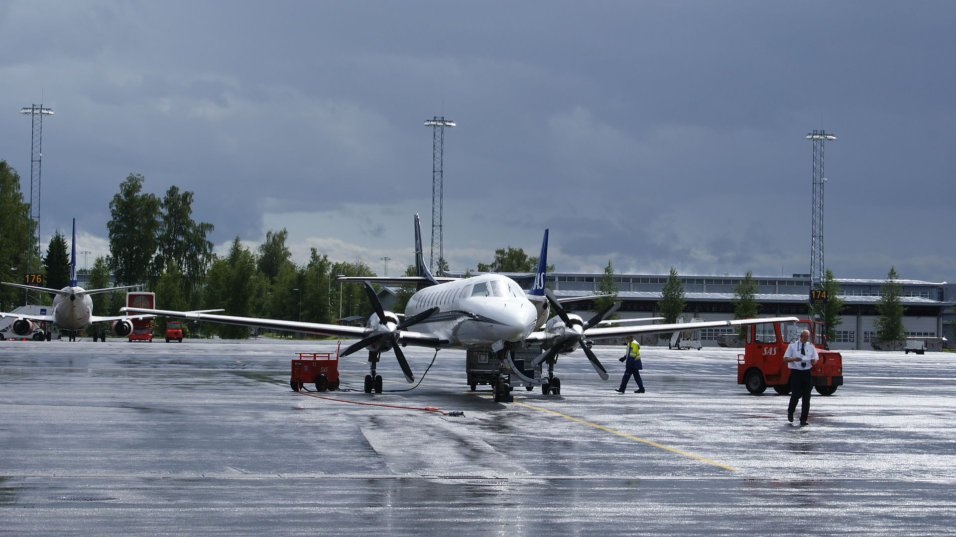 Air Norway Fairchild Metroliner i Oslo Lufthavn. (Foto: Algkalv)