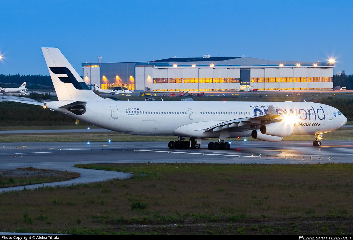 Finnairs sidste Airbus A340'er, OH-LQE, ventes at forlade flåden i første halvår af 2017.  Foto: Aleksi Tihula/Planespotters.net