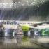 Flyet afdækkes efter de officielle taler. (Foto: Joakim J. Hvistendahl)