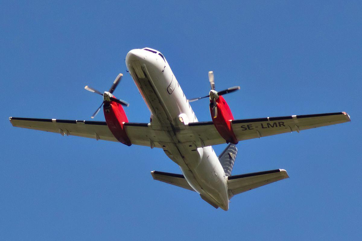 SAAB 340 fra Nextjet. Air Leap ejer nu tre fly af denne type – alle overtaget fra NextJet. (Foto: Bene Riobo)