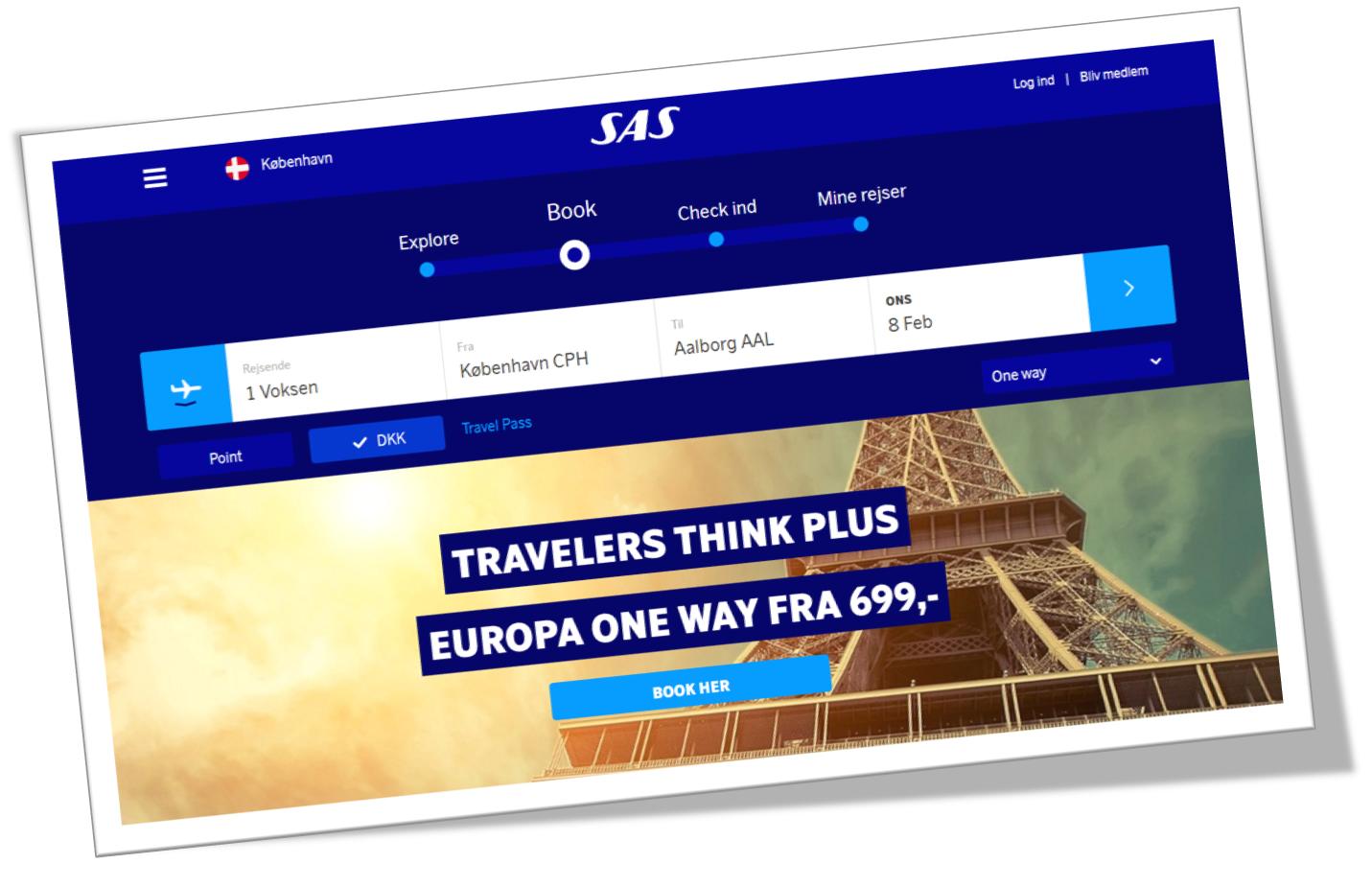 SAS-hjemmesiden blev relanceret i december 2016.