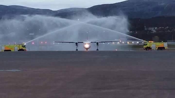 FlyVikings første De Havilland Dash 8-100 (LN-FVA). (Foto: FlyViking)