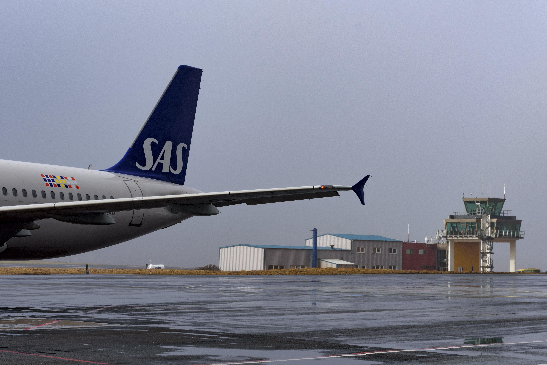 Første flyvning på rutenummer SK1777 fra København til Vágar. (Foto: Thomas Vikre)
