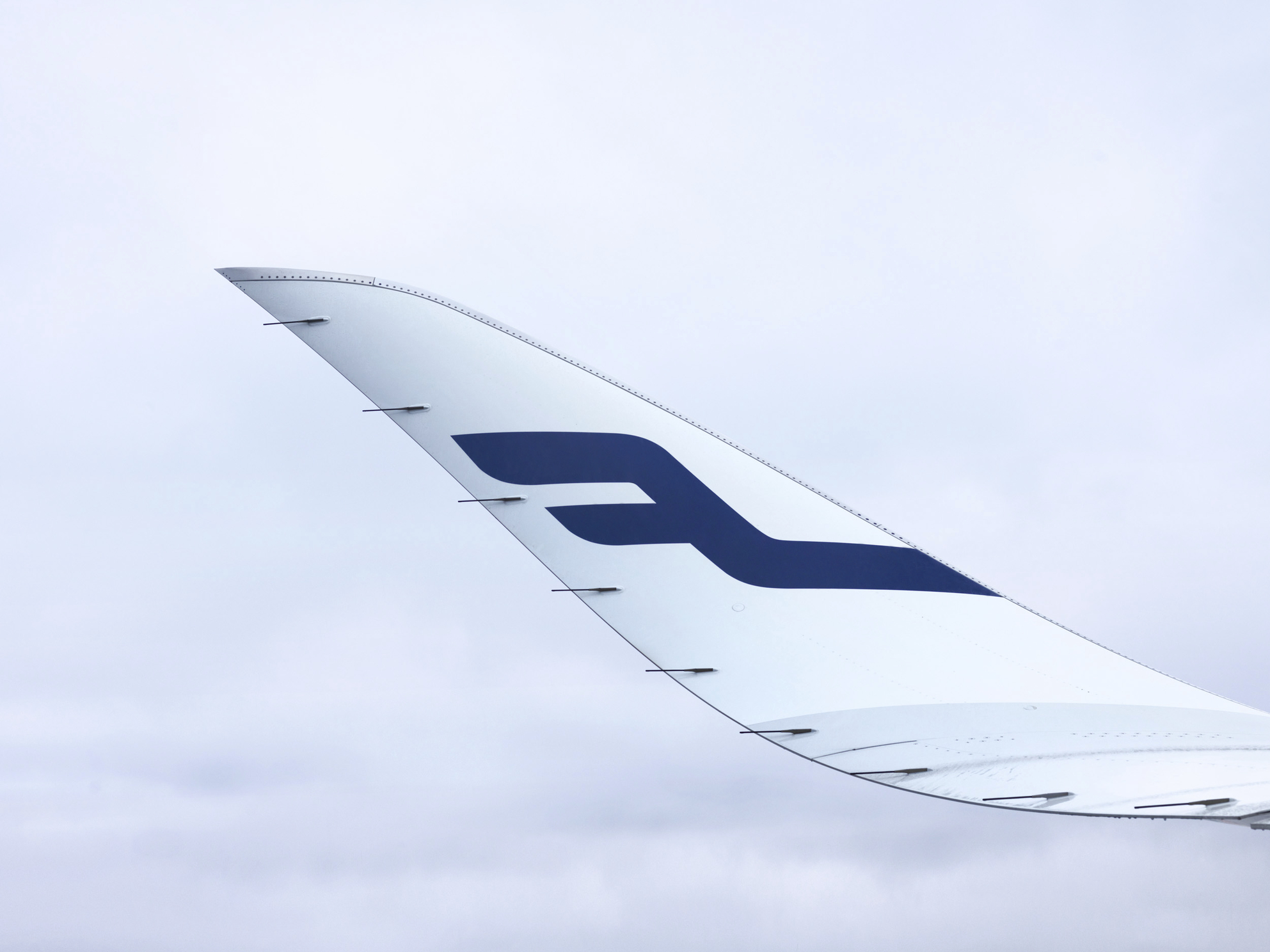 Finnair A350-900 winglet. (Foto: Finnair)