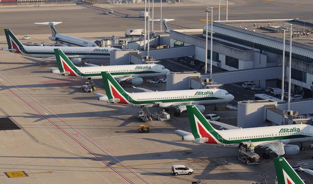 Rom-Fiumicino Airport.