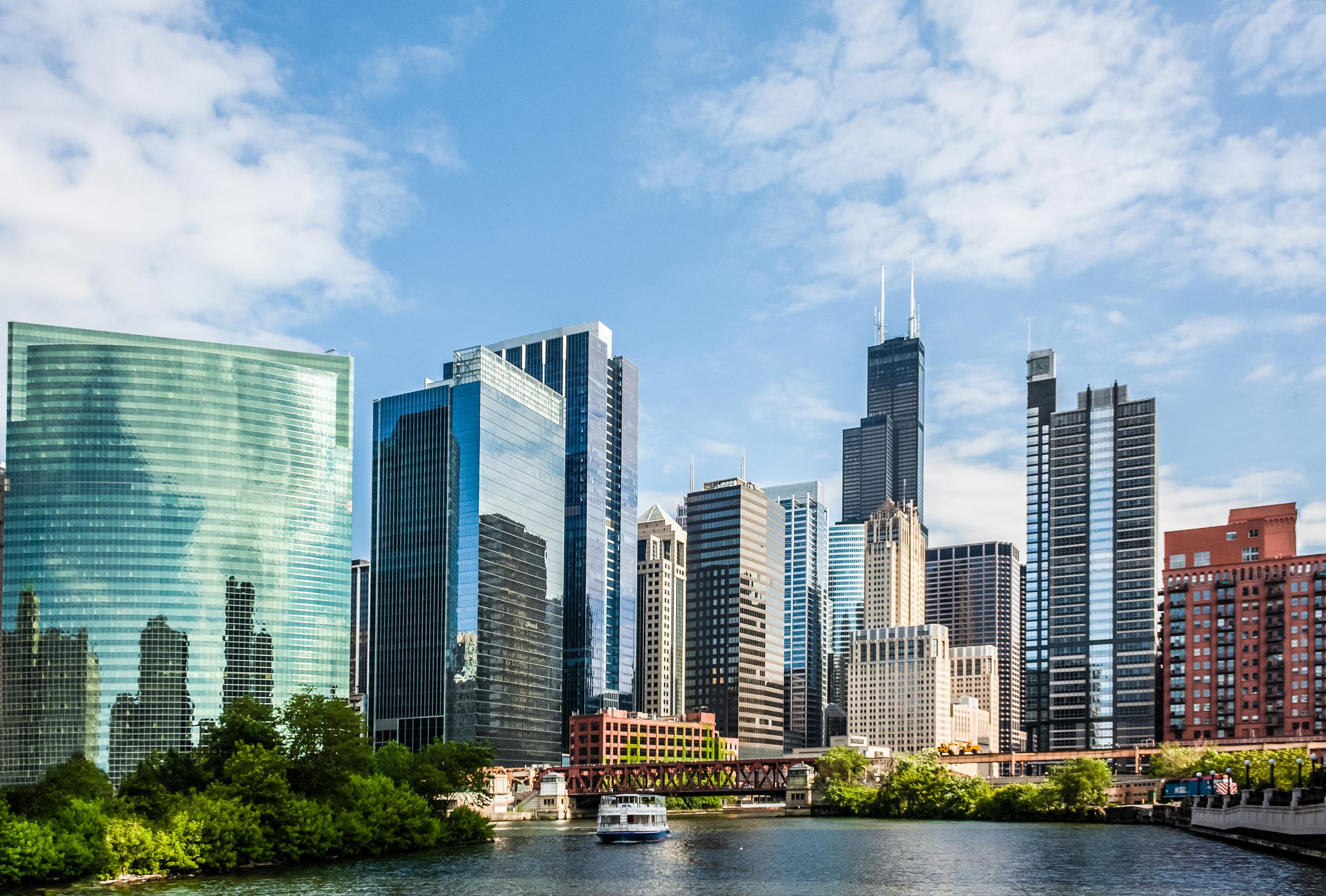 """Chicago – også kaldet """"Windy City"""". (Foto: WOW air)"""