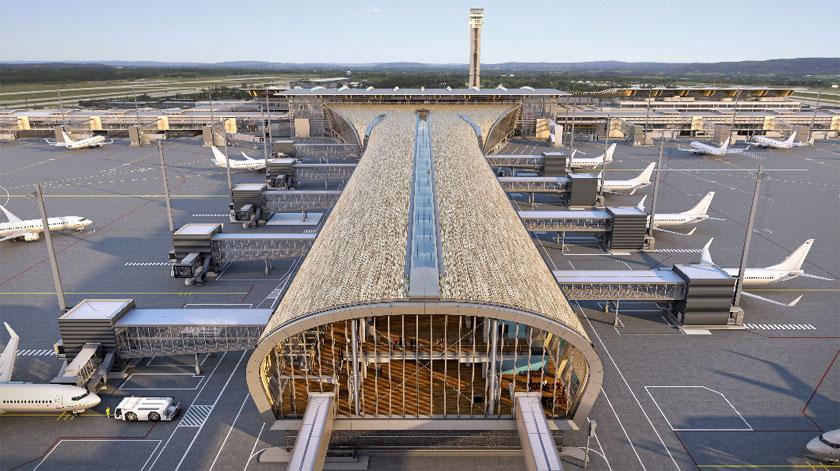Oslo Lufthavn med den nye Pier Nord (Foto: Avinor | Oslo Lufthavn AS)