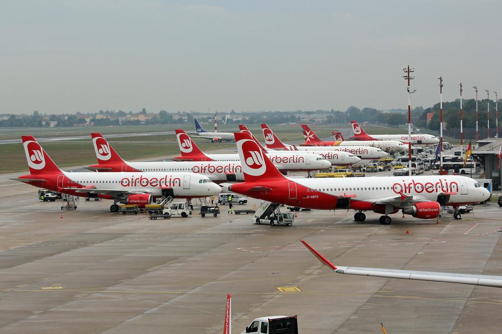 Airberlin-fly i Berlin Tegel-lufthavnen. Foto: Ralf Manteufel / Wikimedia Commons.