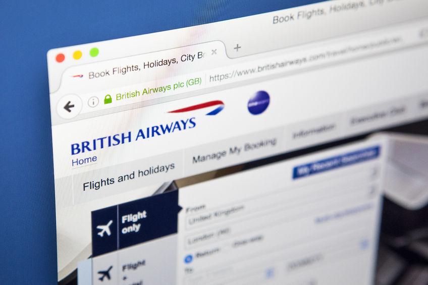 British Airways hjemmeside. (Foto Chris Dorney | 123RF Stock Photo)
