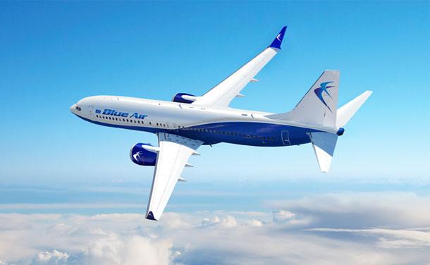 Boeing 737-800 fra  Blue Air. (Foto: Blue Air)