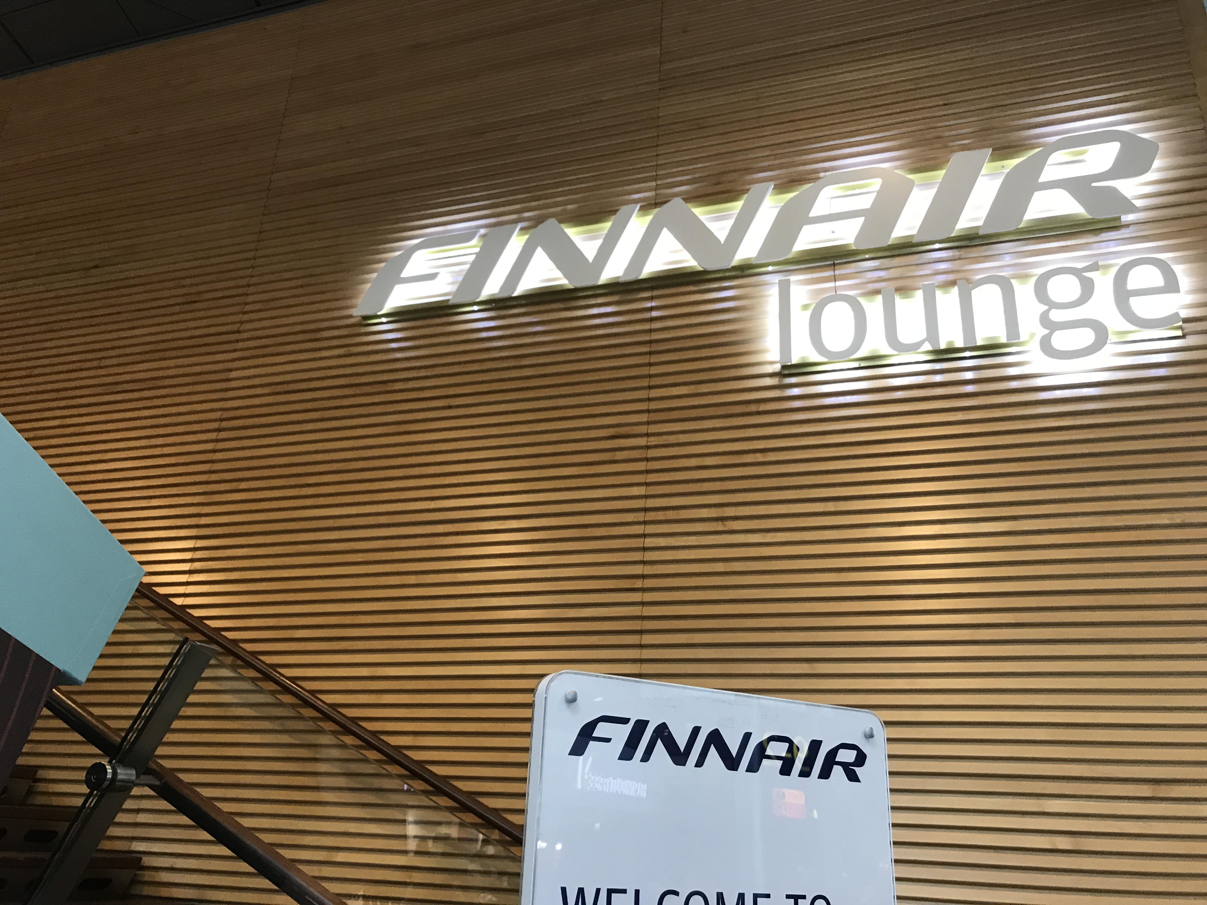 Finnair Lounge i Schengen-området i Helsinki Lufthavn. (Foto: Ole Kirchert Christensen)