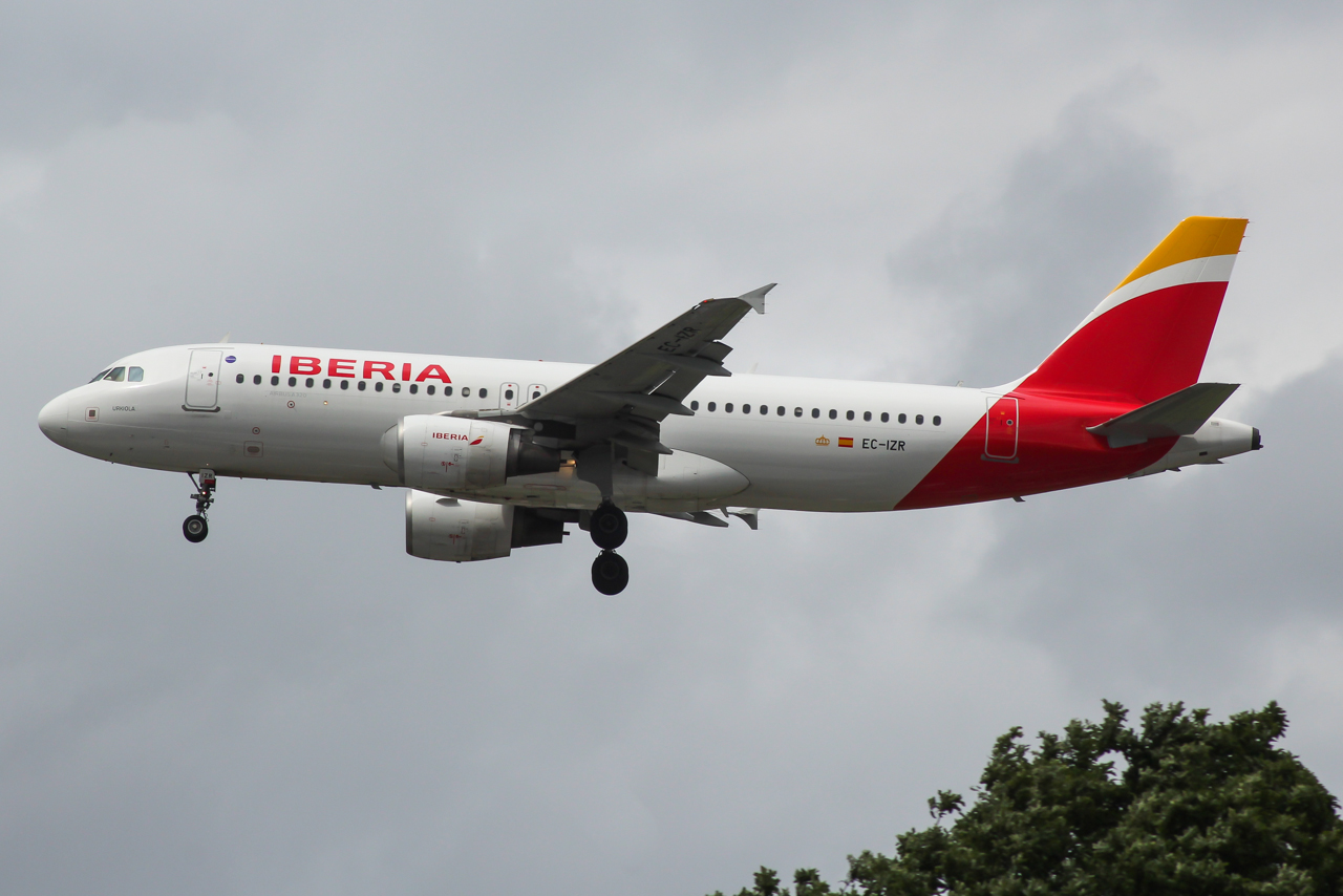Et af Iberias eksisterende Airbus A320-fly. Foto: Mark Harkin / Wikimedia Commons.