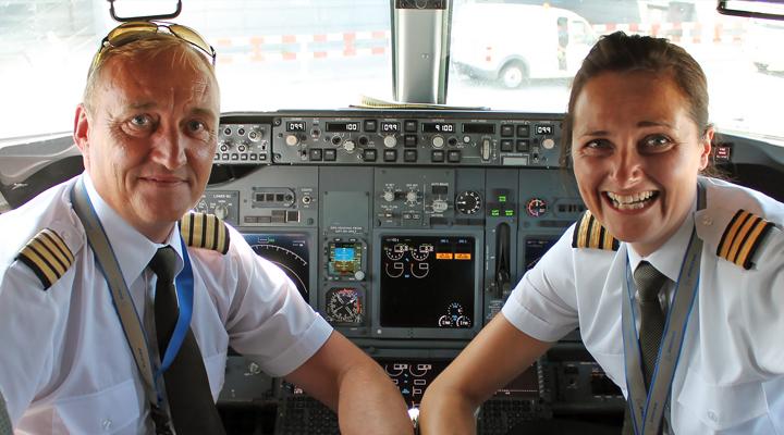 Ryanair-piloter i cockpittet (Foto: Ryanair)