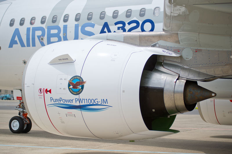 Airbus A320-200neo med Pratt & Whitney's PW1100G (Foto: Airbus)