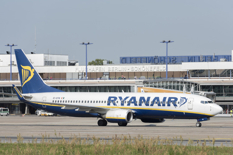 Ryanair-fly i Berlin-Schönefeld. (Foto: Berlin Airports)